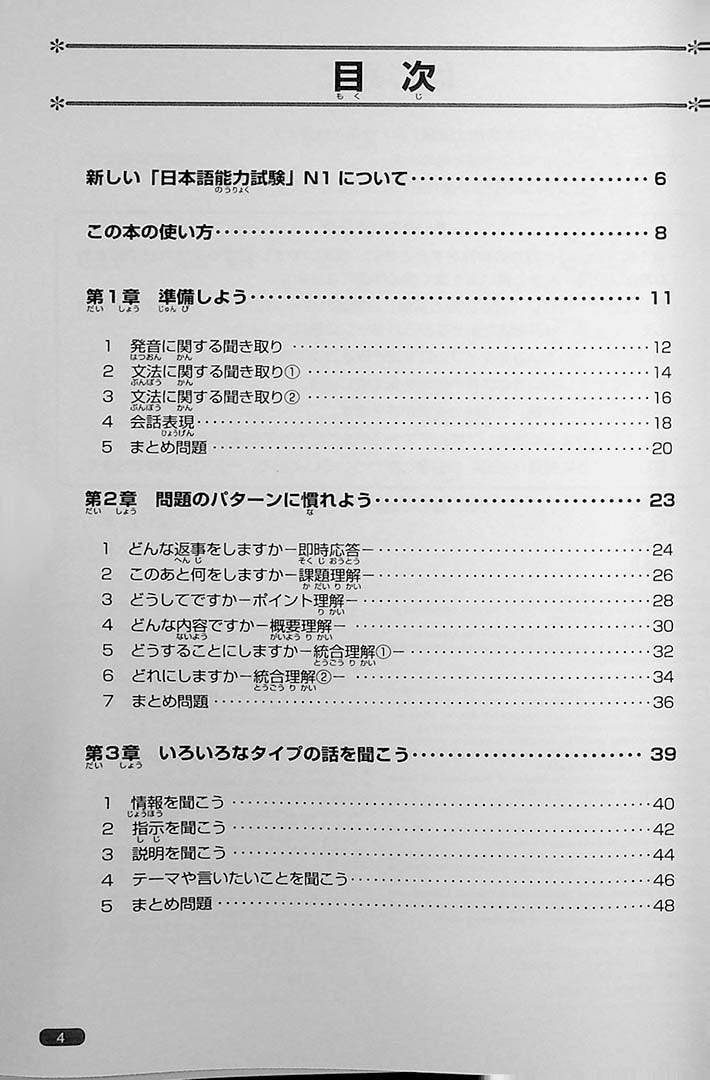 Nihongo So-Matome JLPT N1 Listening Page  4