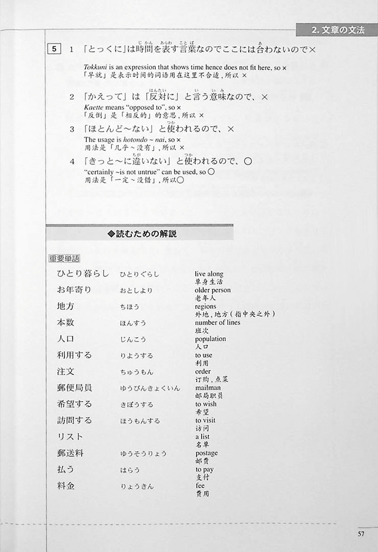 The Preparatory Course for the JLPT N3 Reading Page 57