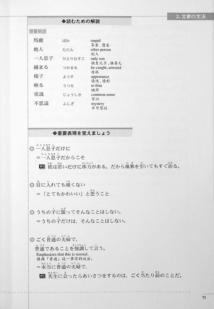 The Preparatory Course for the JLPT N3 Reading Page 75