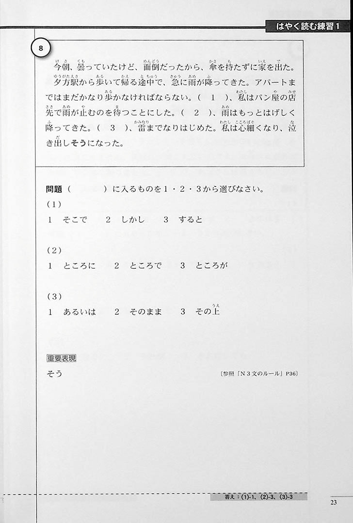 The Preparatory Course for the JLPT N2 Reading Page 23