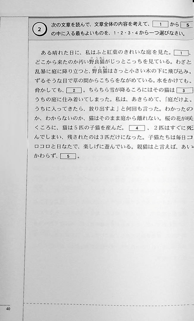 The Preparatory Course for the JLPT N2 Reading Page 40