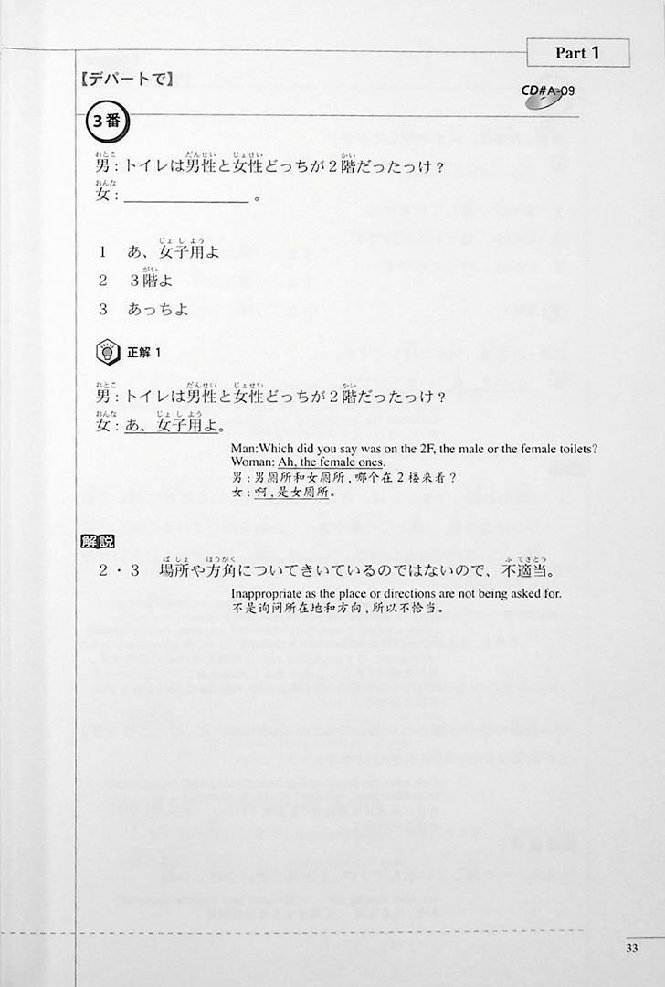 The Preparatory Course for the JLPT N3 Listening Page 33
