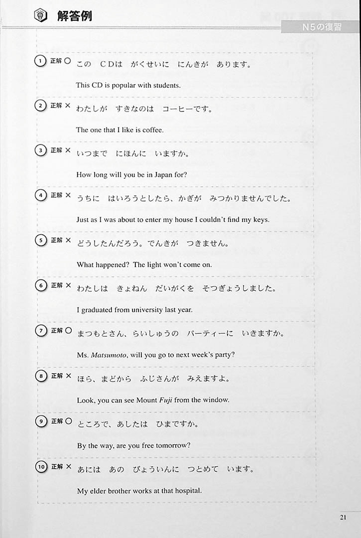 The Preparatory Course for the JLPT N4 Reading Page 21