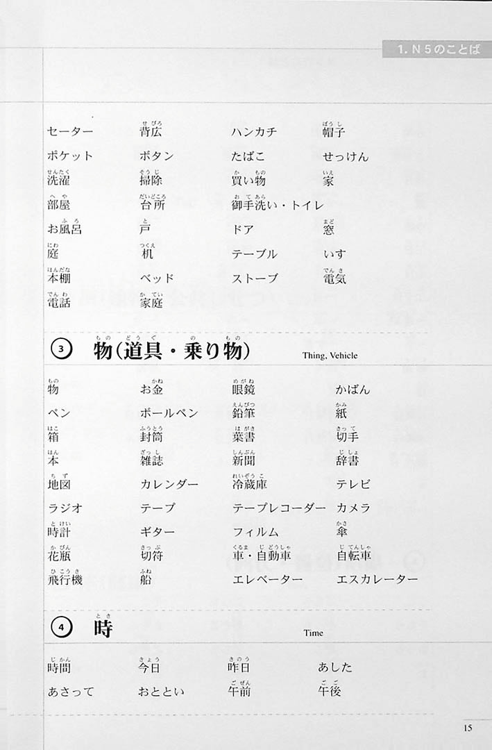The Preparatory Course for the JLPT N5 Page 15