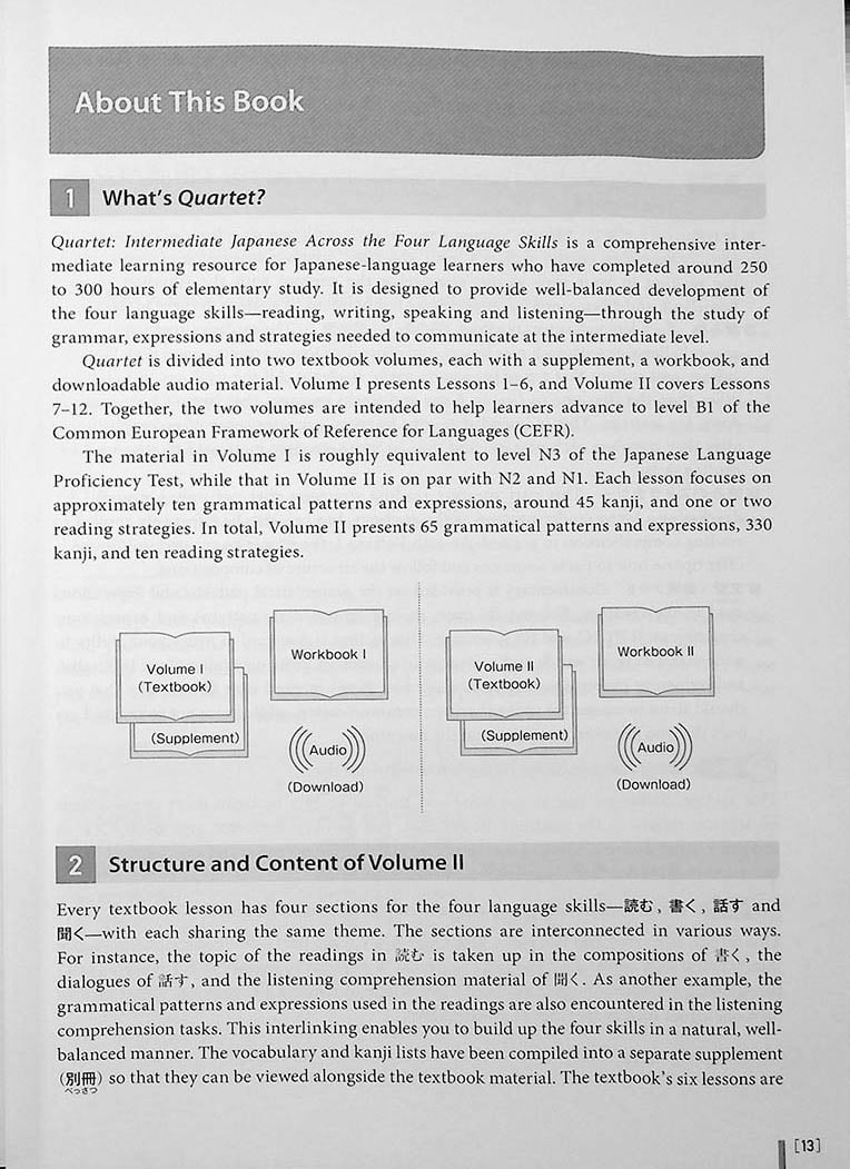 Quartet: Intermediate Japanese Across the Four Language Skills Vol. 2 Page 13