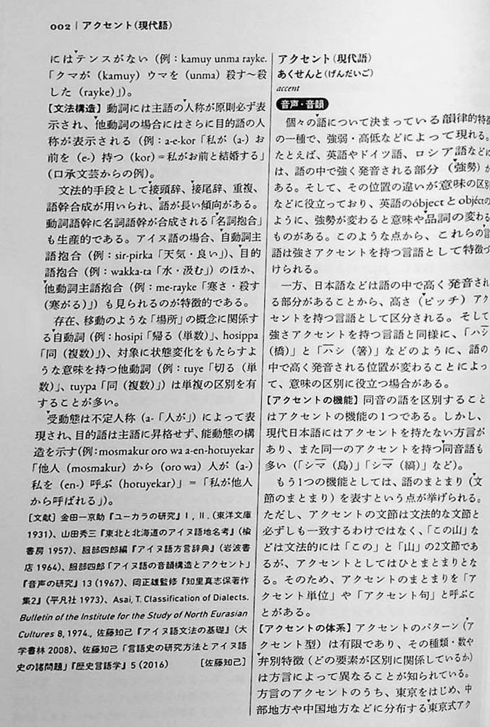 The Sanseido Dictionary of Japanese Linguistics Page 2