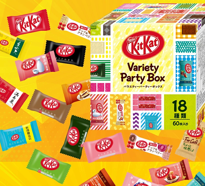 Kit Kat Party Box - 18 flavors - 60 pieces