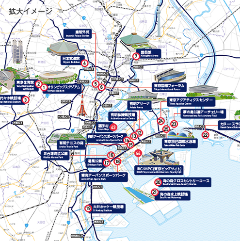 Tokyo 2020 Olympics Official Venue Map Poster