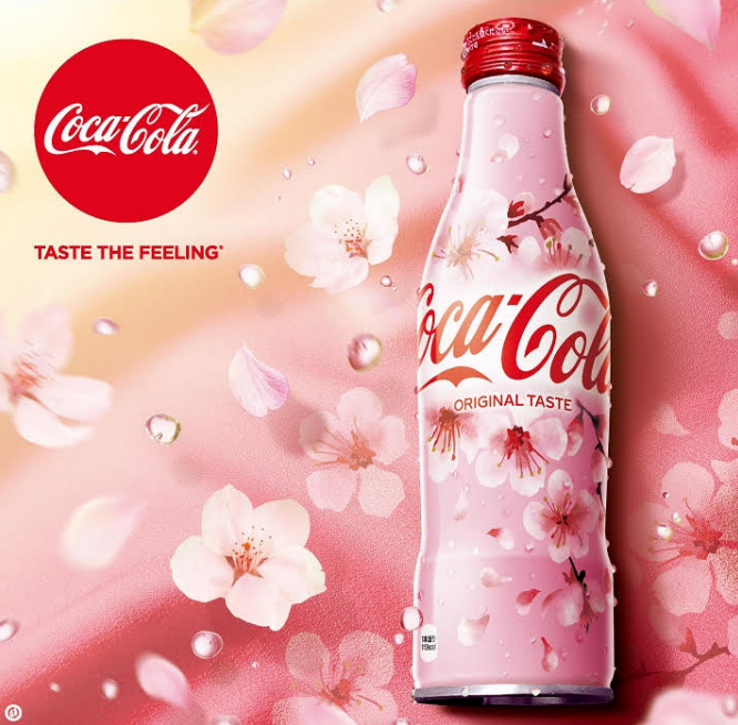 "Coca-cola ""Coke"" Sakura Bottle 2020 Design"