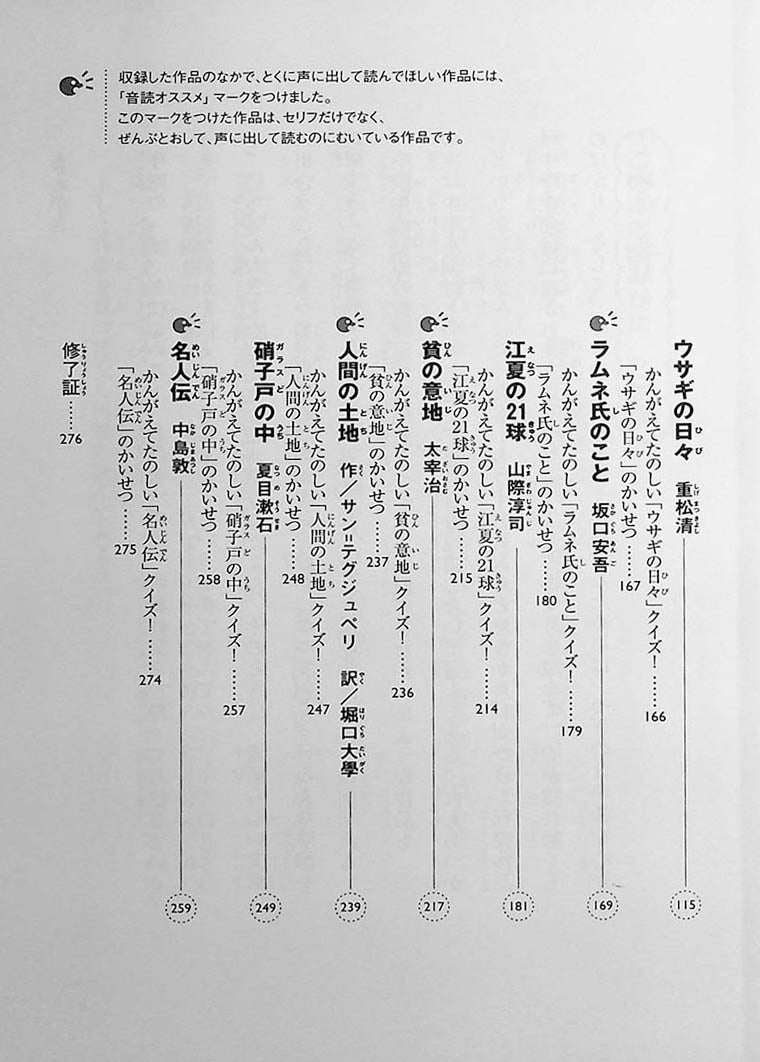 Ikki Ni Yomeru Junior High Table of Contents Page