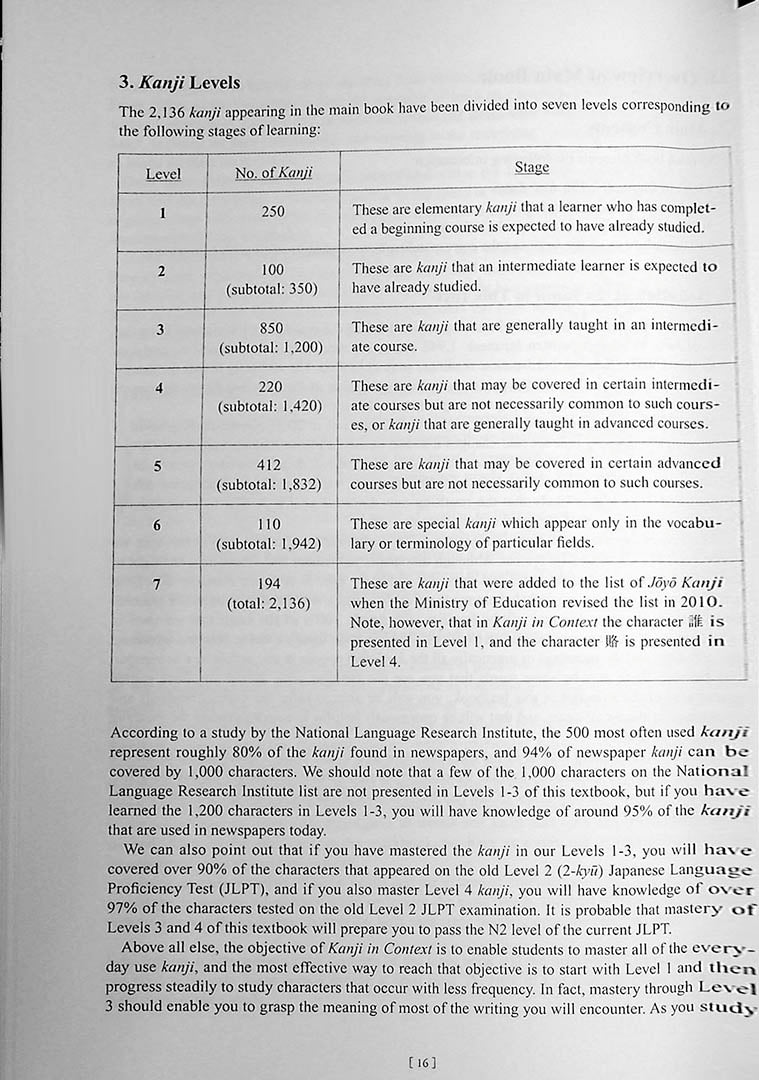 Kanji in Context Workbook Volume 2 Page 16