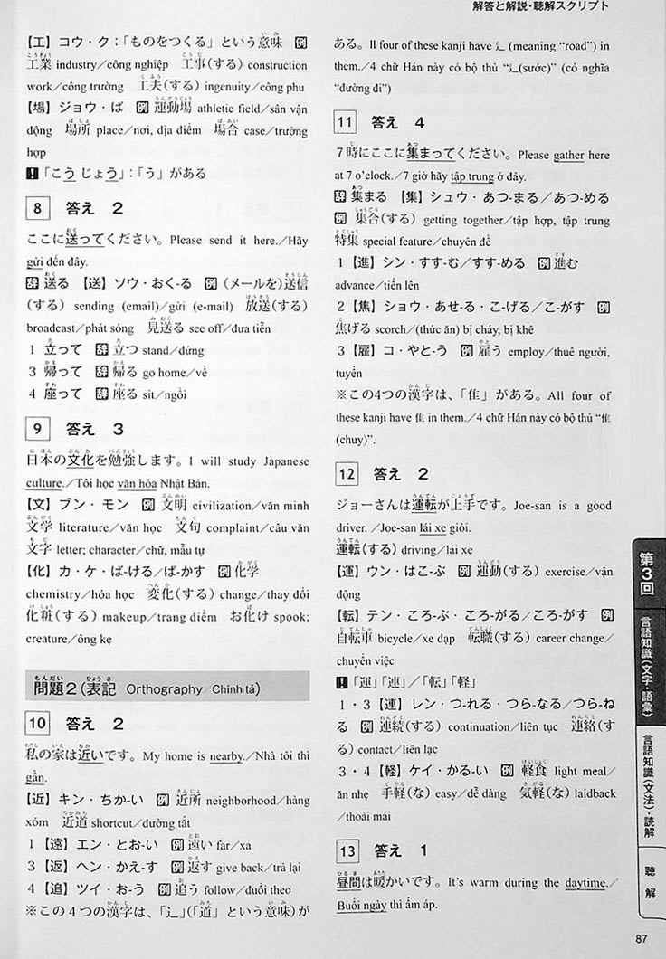 The Best Practice Tests for the Japanese Language Proficiency Test N4 Page 87