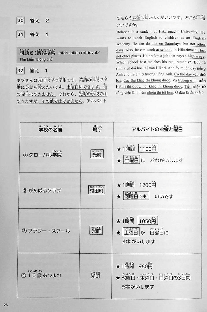 The Best Practice Tests for the Japanese Language Proficiency Test N5 Page 26