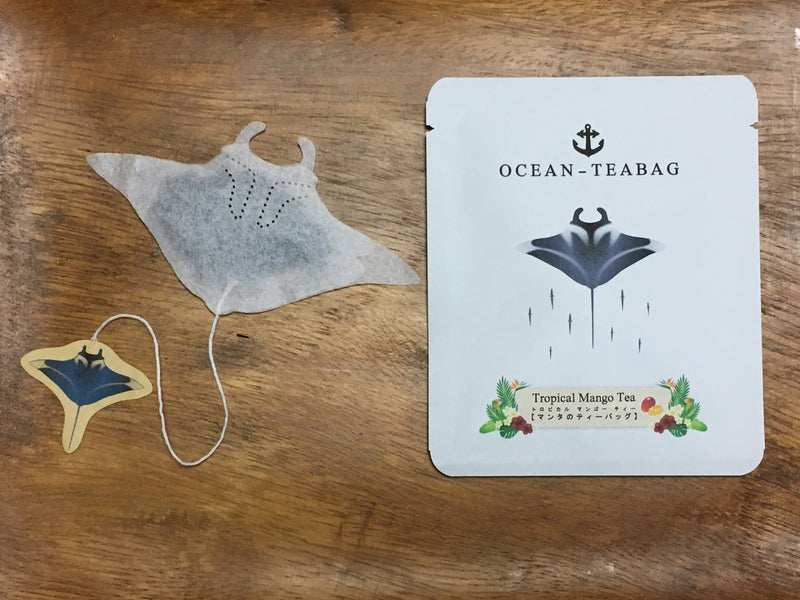 Manta Ray Tropical Mango Tea by Ocean Tea Bag