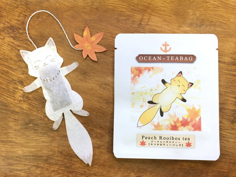 Fox Peach Rooibos Tea by Ocean Tea Bag