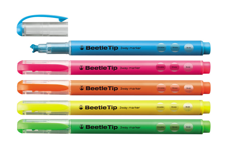 Kokuyo Beetle Tip 3 way Highlighters
