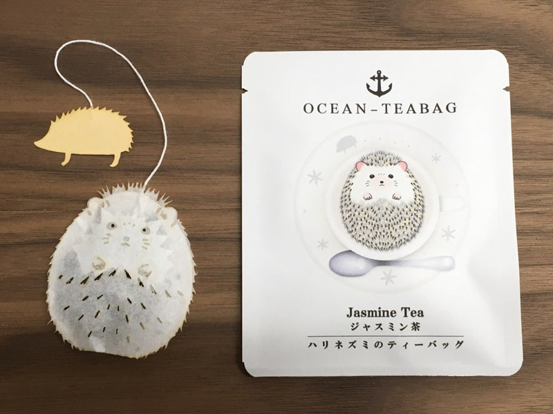 Floating Hedgehog Jasmine Tea By Ocean Tea bag