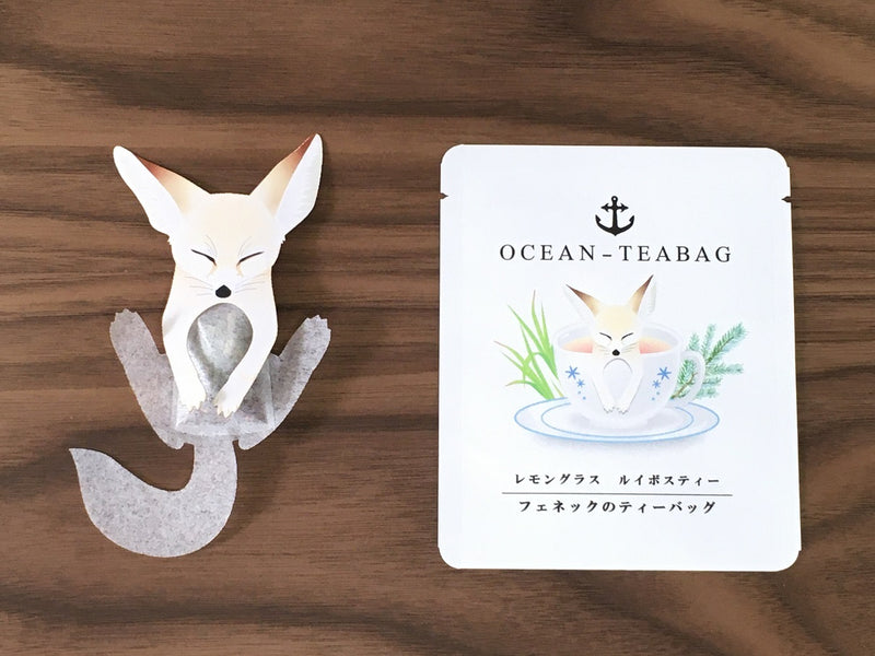Sleeping Fennic Fox Lemongrass Tea by Ocean Tea bag