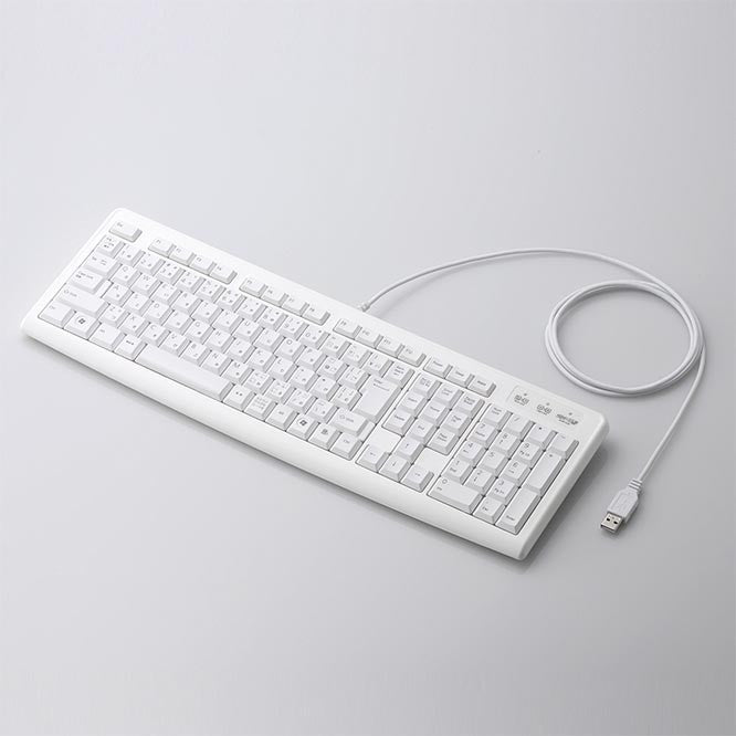 Elecom Japanese Keyboard - TK-FCM007: White - White Rabbit Japan Shop - 1