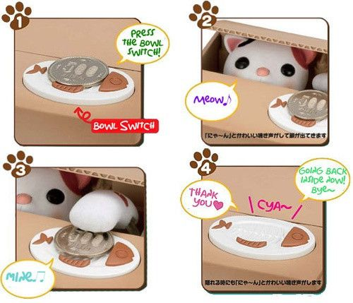 Itazura Coin Bank with Automated Kitty - White Rabbit Japan Shop - 5