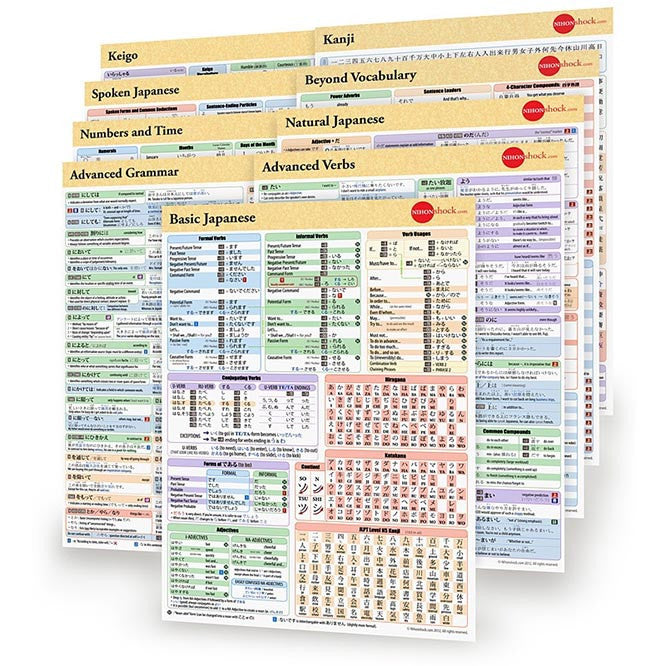 Japanese Cheat Sheet Pack