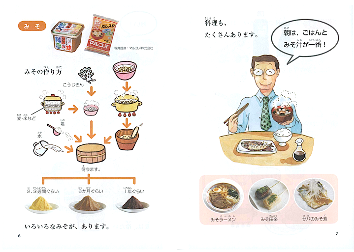 Japanese Graded Readers Level 0 - Vol. 1 How to make miso soup