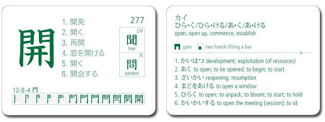 Japanese Kanji Flashcards, Series 2 Volume 1 - White Rabbit Japan Shop - 2