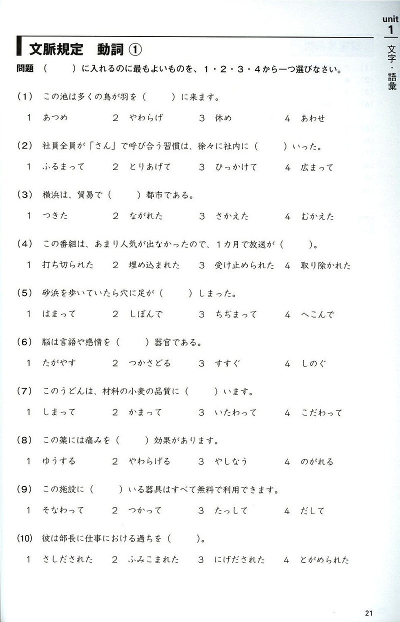 JLPT N1 Comprehensive Exam Exercises (Tettei Drill) - White Rabbit Japan Shop - 2