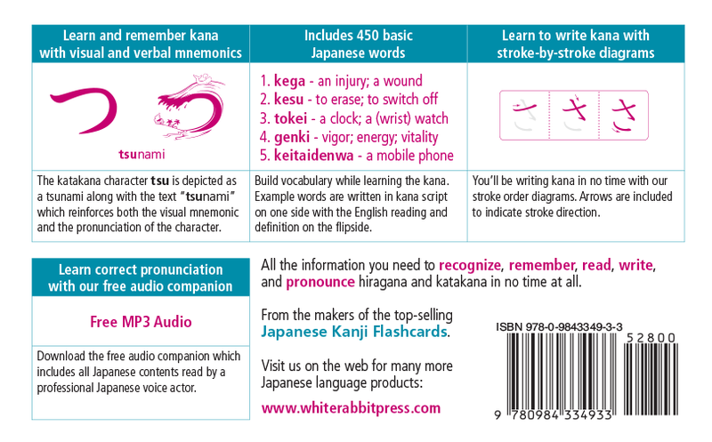 New Kana Flashcards by White Rabbit Press Revised Edition - White Rabbit Japan Shop - 4