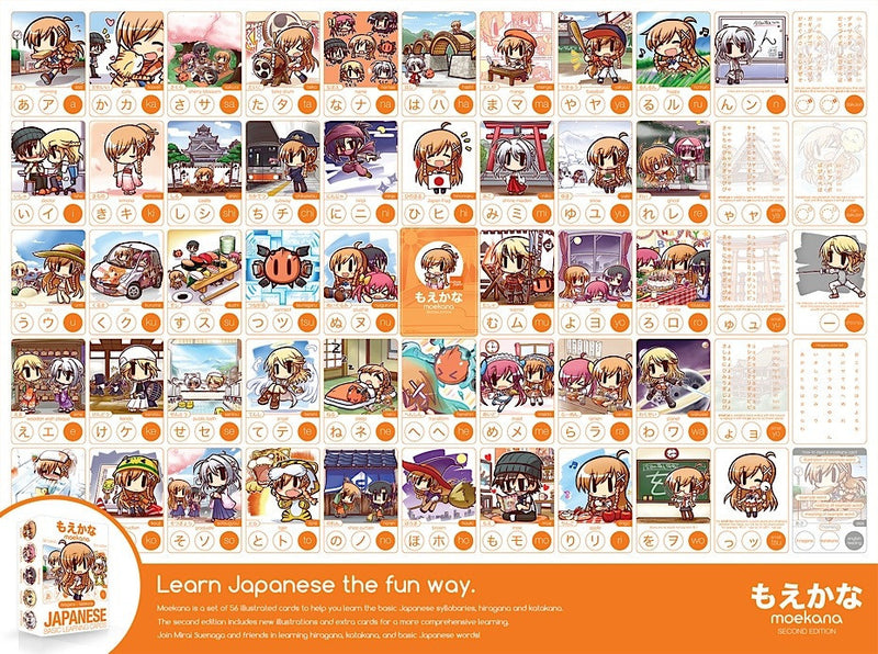 Moekana Flashcards Second Edition - White Rabbit Japan Shop - 7