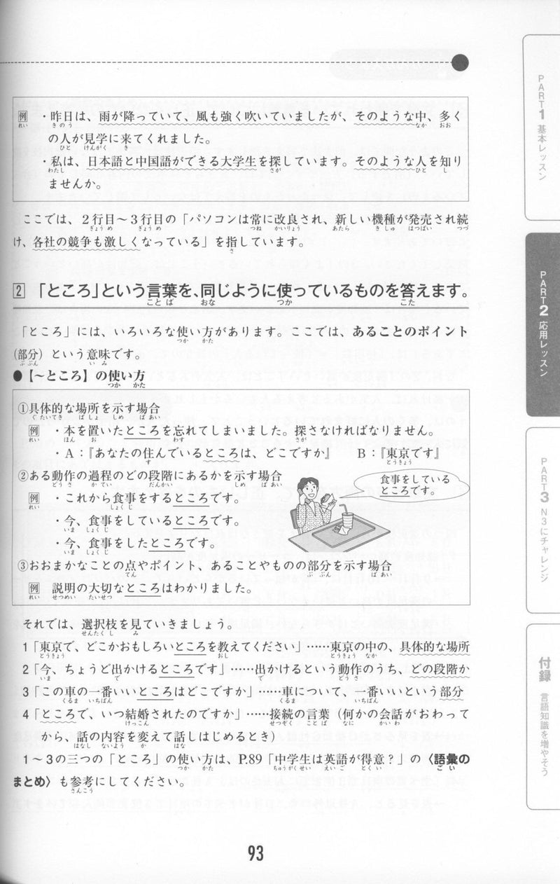 New JLPT N3 Taisaku-mondai & Yoten-seiri for Reading comprehension, Grammar, & Vocabulary (Last minute preparations and reviews JLPTN3) - White Rabbit Japan Shop - 9