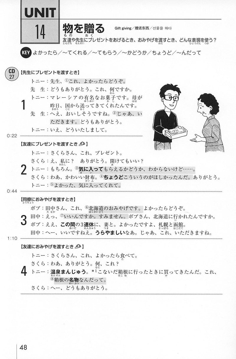 Nihongo Kaiwa Training [Conversation Training - CD Included] - White Rabbit Japan Shop - 2