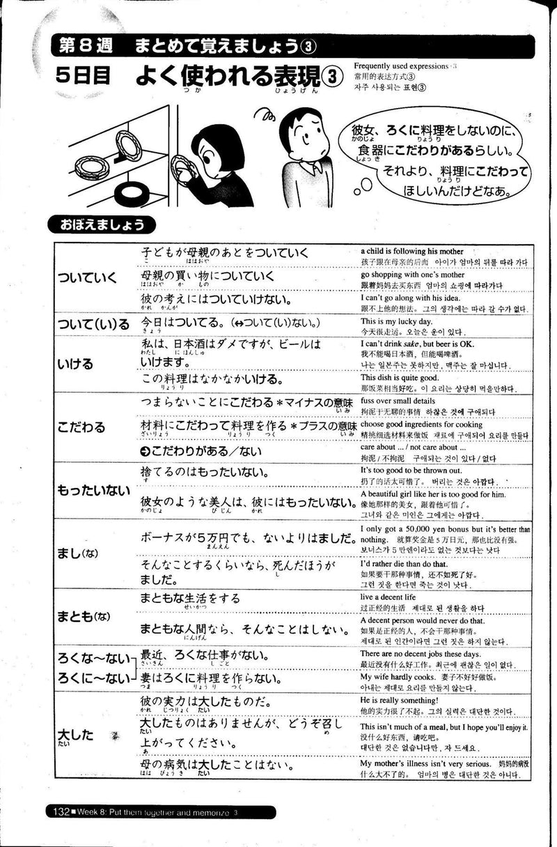 Nihongo So-matome JLPT N2: Vocabulary  Page 132