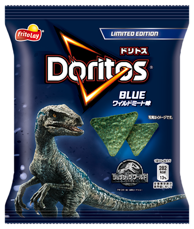 Jurassic World Limited Edition Blue Wild Meat Flavor Doritos