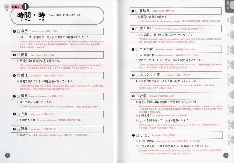 Quick Mastery of Vocabulary Advanced 2800- In Preparation for JLPT N1 - White Rabbit Japan Shop - 4