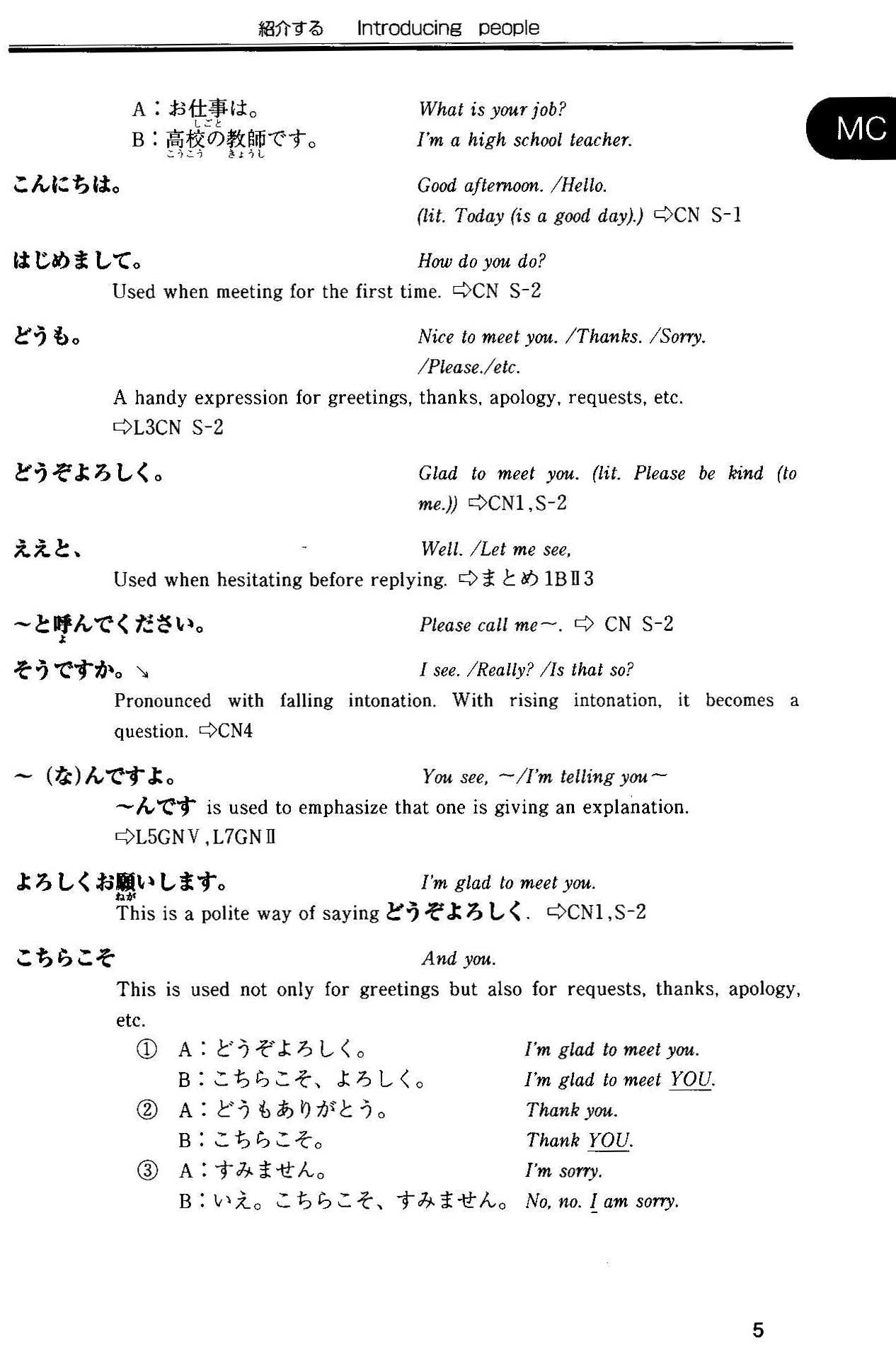 Situational Functional Japanese Volume 1 Notes