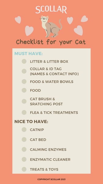 pet supplies checklist for cats
