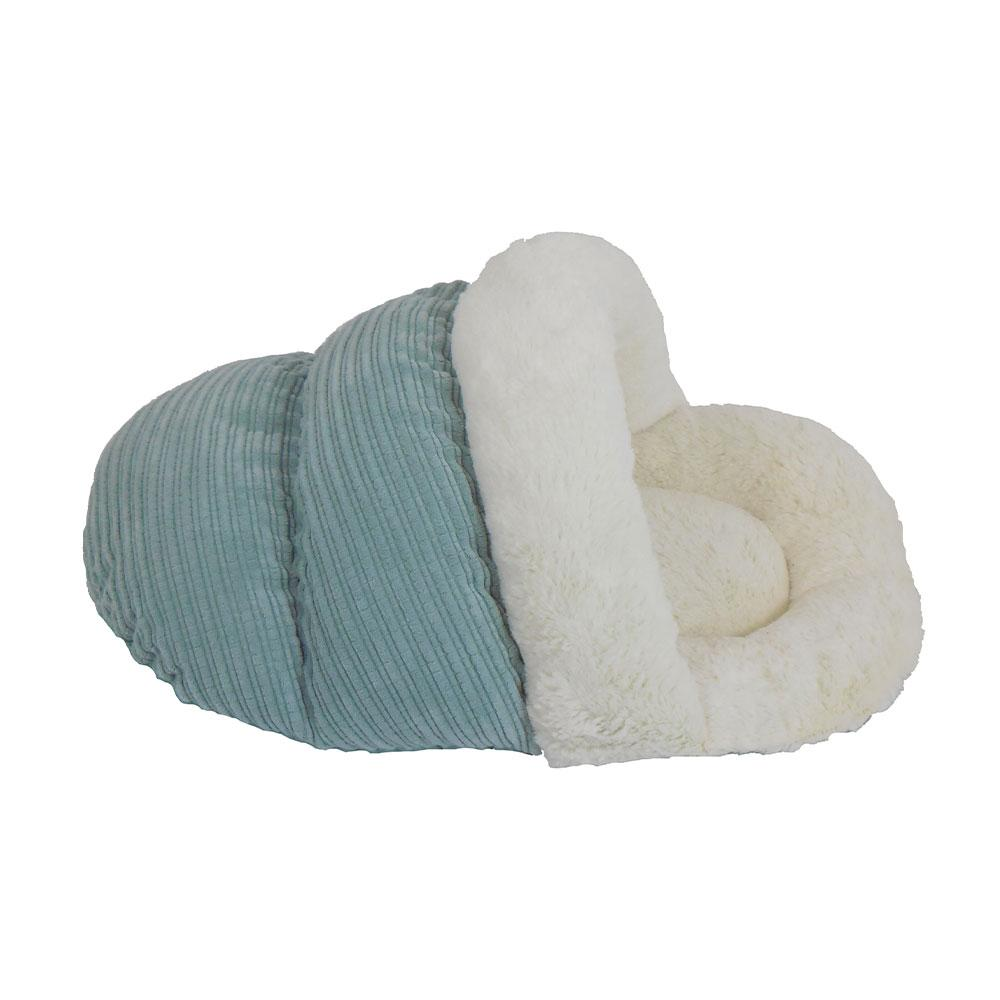 Arlee light blue slipper cat bed at Scollar personalized pet marketplace