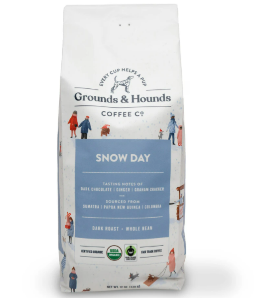 Grounds and Hounds Snow Day seasonal coffee blend