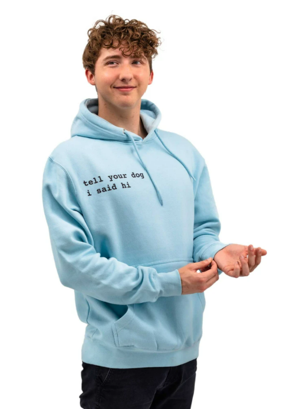 Light blue We Rate Dogs Hoodie