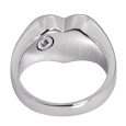 Stainless Steel Bold Heart Ring