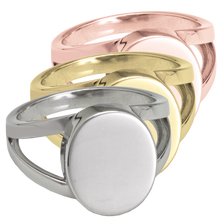 "Load image into Gallery viewer, ""V"" Ring Cremation Ring"
