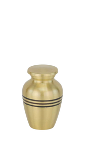 Three Bands Gold Keepsake Urn