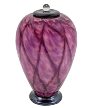 Allia Hand Blown Glass Urn