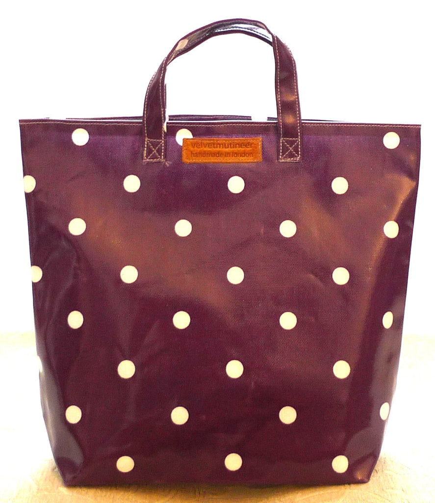 Purple spot kids tote