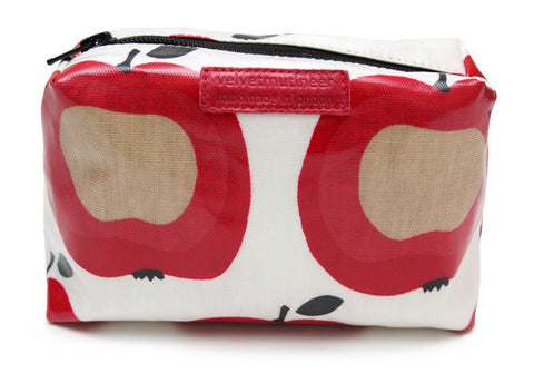 Apple cosmetic pouch