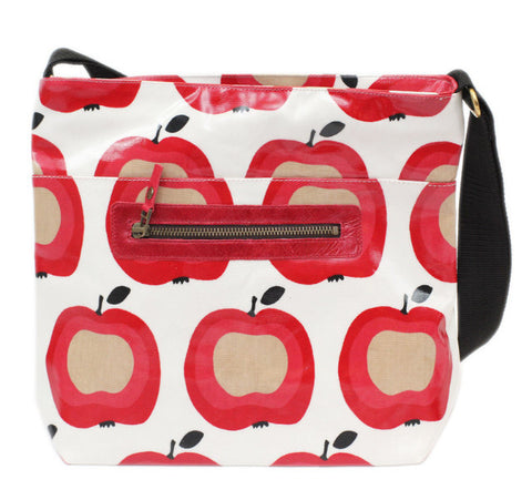 Apple zip tote