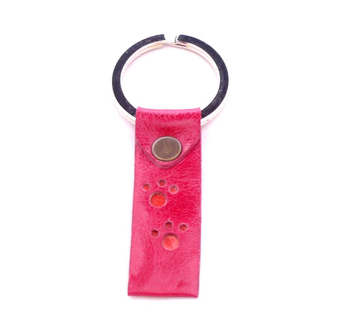 Paws key fob - Chilli with tangerine paw prints