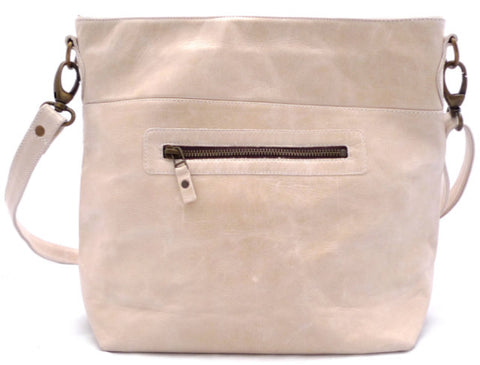 Italian leather Mushroom zip tote