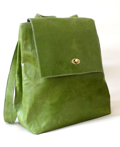 Italian leather Lime rucksack